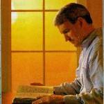 Biblia hombre leyendo la